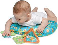 how to use a boppy pillow for tummy time